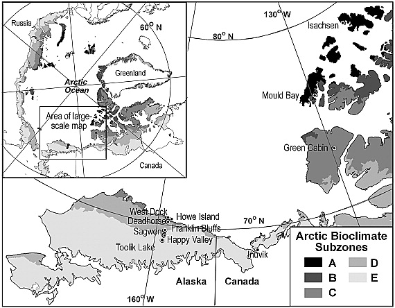 Bluff Alaska Map.Maps Of Vegetation Ndvi Snow And Thaw Depths North Slope Alaska