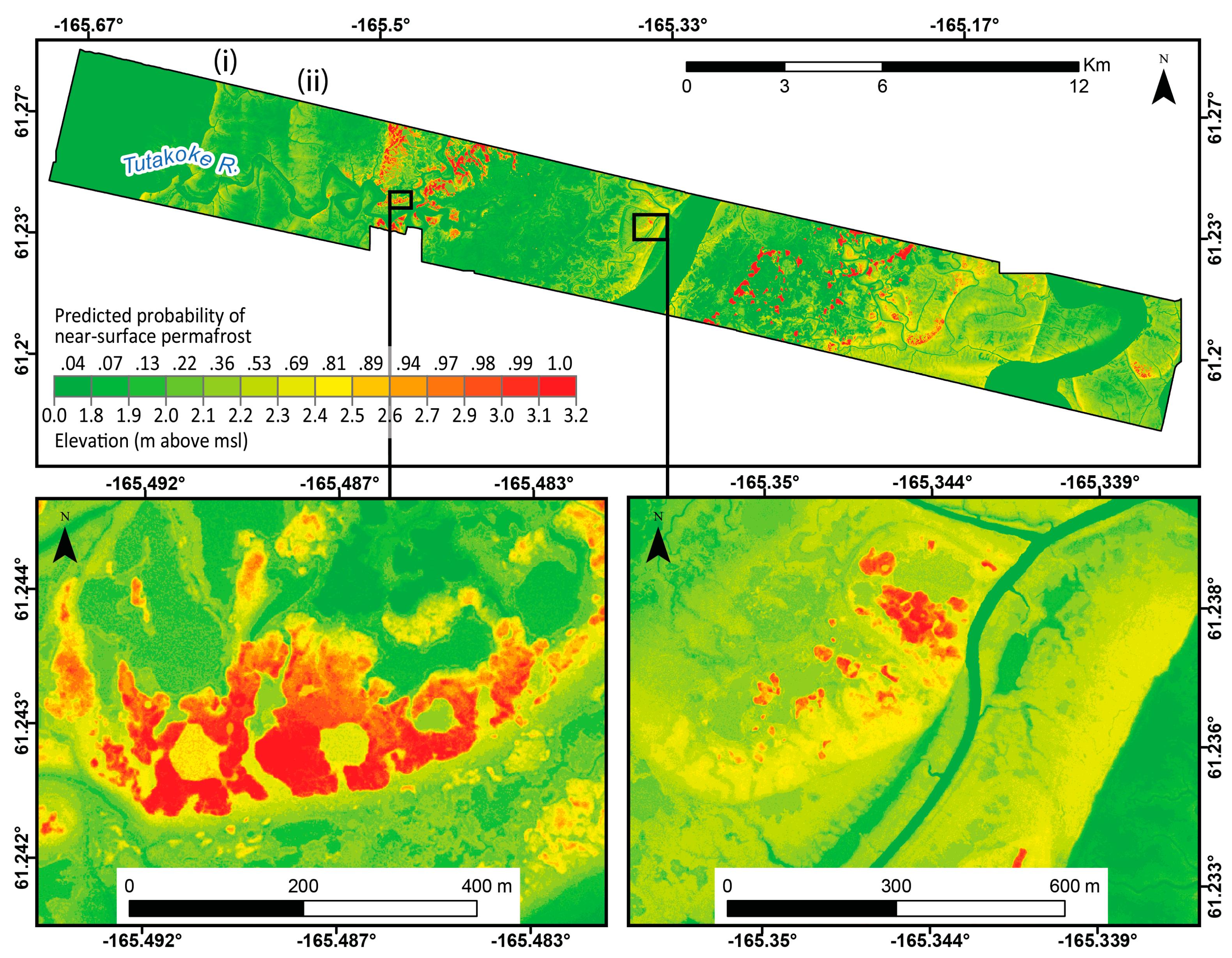 ABoVE: Permafrost Measurements and Distribution Across the Y-K Delta on yukon plateau located map, yukon koyukuk map, lower kuskokwim area map, yukon region, kuskokwim river map,
