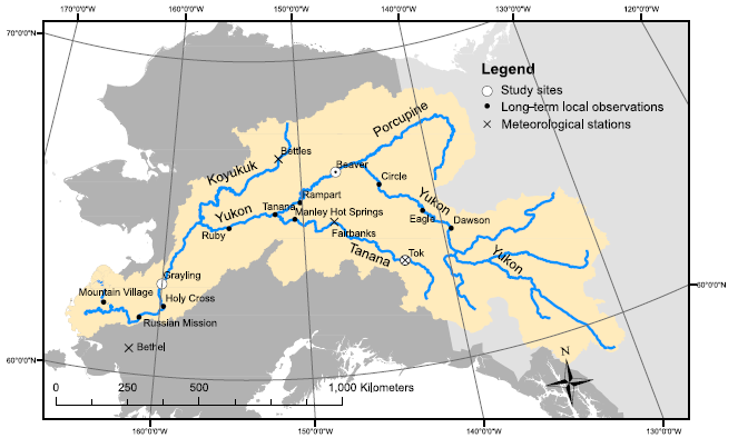 ABoVE: River Ice Breakup and Freeze-up Stages, Yukon River ...