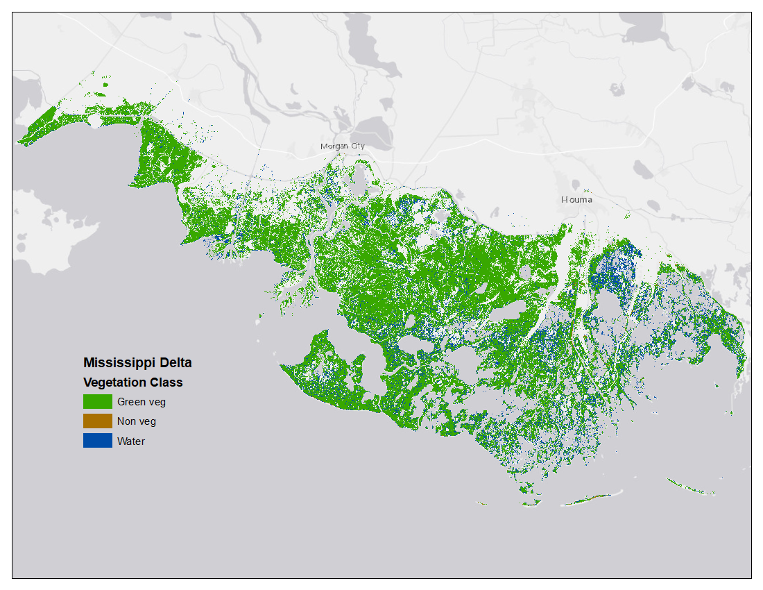 High Res Us Map.Vegetation And Open Water High Resolution Maps For Selected Us Tidal
