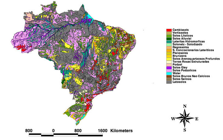 LBA-ECO LC-08 Soil, Vegetation, and Land Cover Maps for Brazil and ...