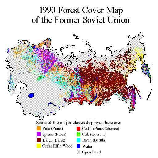 map of ussr. Forest Cover Map for the Land