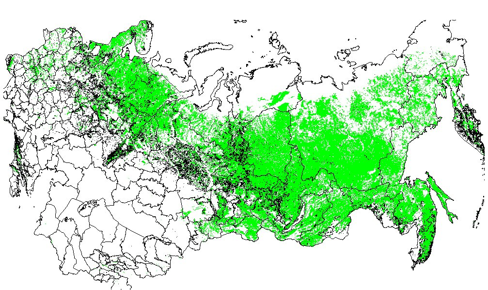ORNL DAAC RLC GENERALIZED FOREST MAP OF THE FORMER SOVIET ...