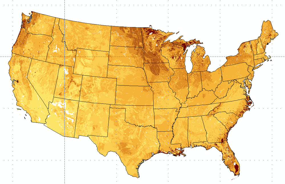 Soil Carbon Estimates In Cm Layers To M Depth For The - Us map shapefile