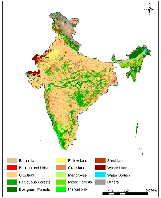 Decadal Land Use and Land Cover Classifications across India