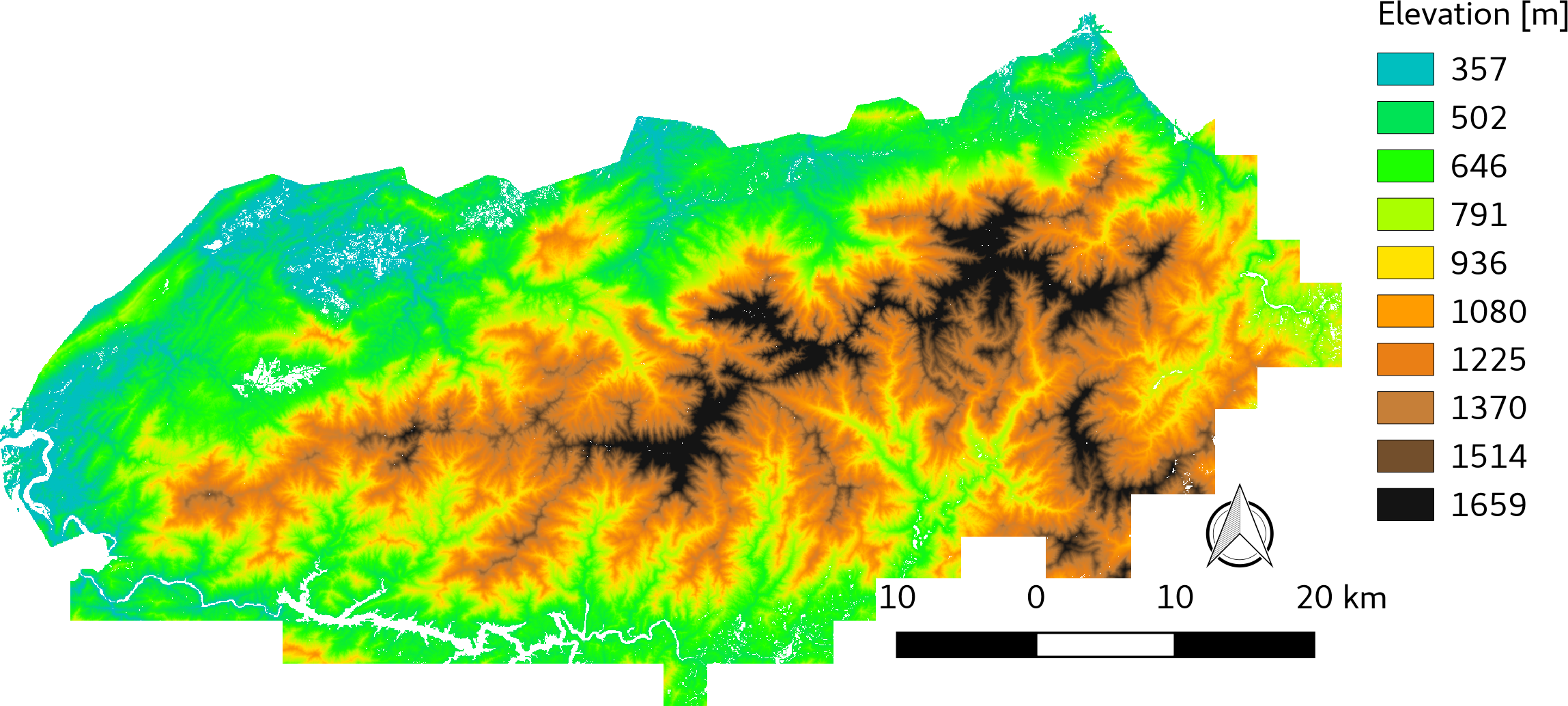 LiDAR-derived Vegetation Canopy Structure, Great Smoky Mountains