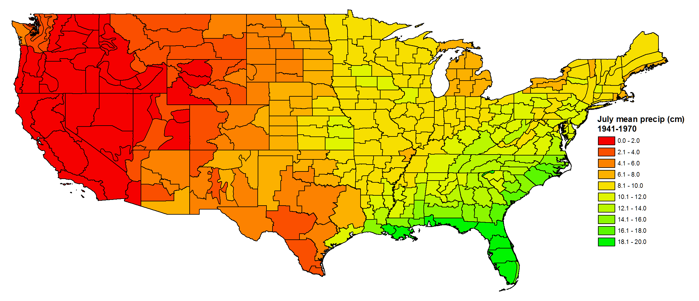 Geoecology: County-Level Environmental Data for the United States ...