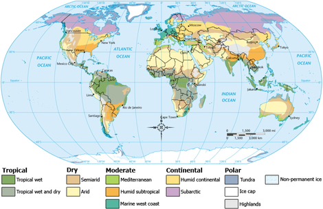 Global Map of Climate Zones